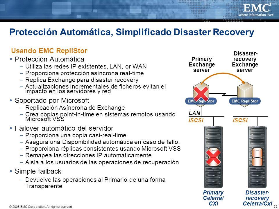 Protección Automática, Simplificado Disaster Recovery