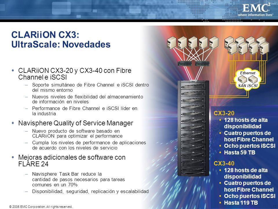 CLARiiON CX3: UltraScale: Novedades