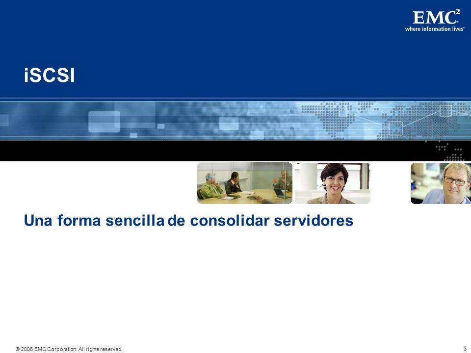 iSCSI May 2005 Una forma sencilla de consolidar servidores