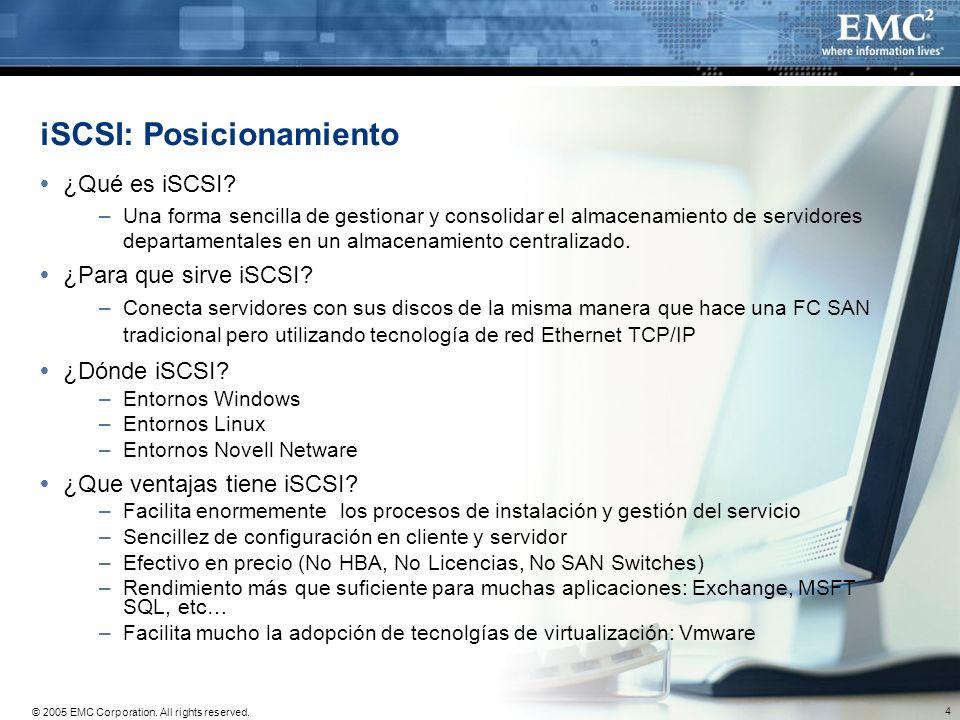 iSCSI: Posicionamiento