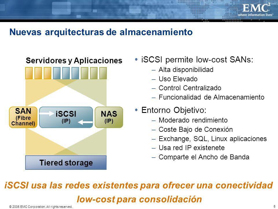 Nuevas arquitecturas de almacenamiento