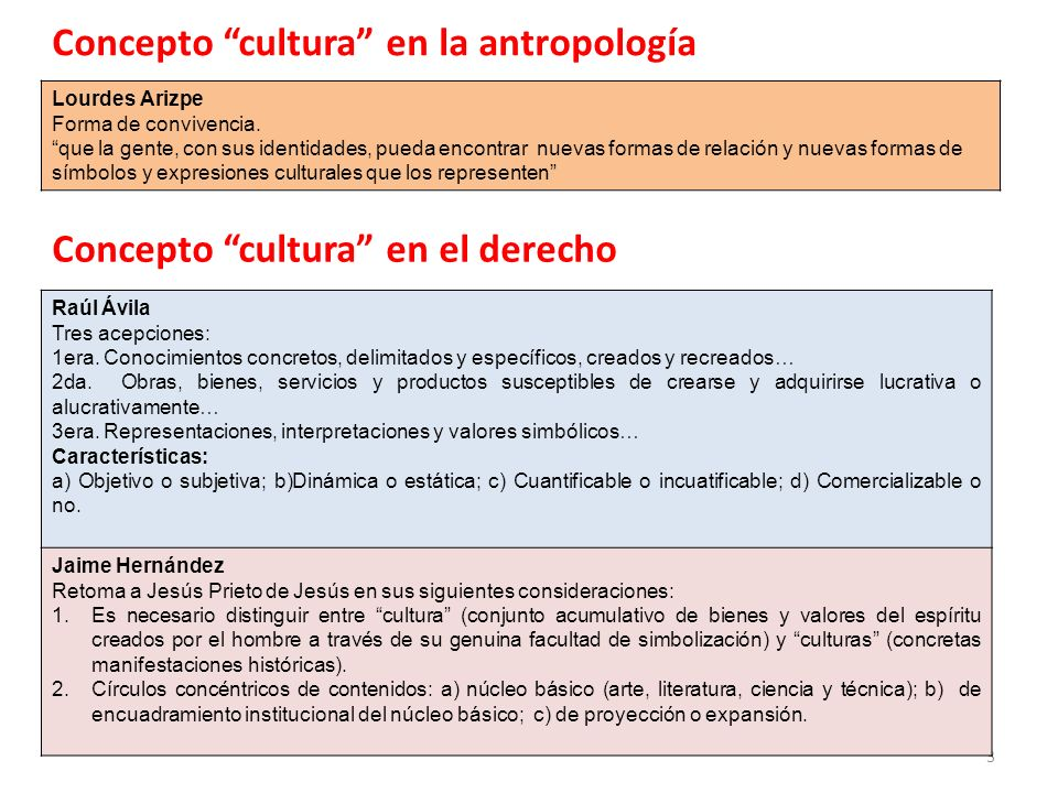Concepto cultura en la antropología