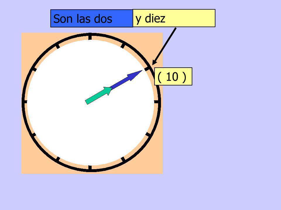Son las dos y diez ( 10 )