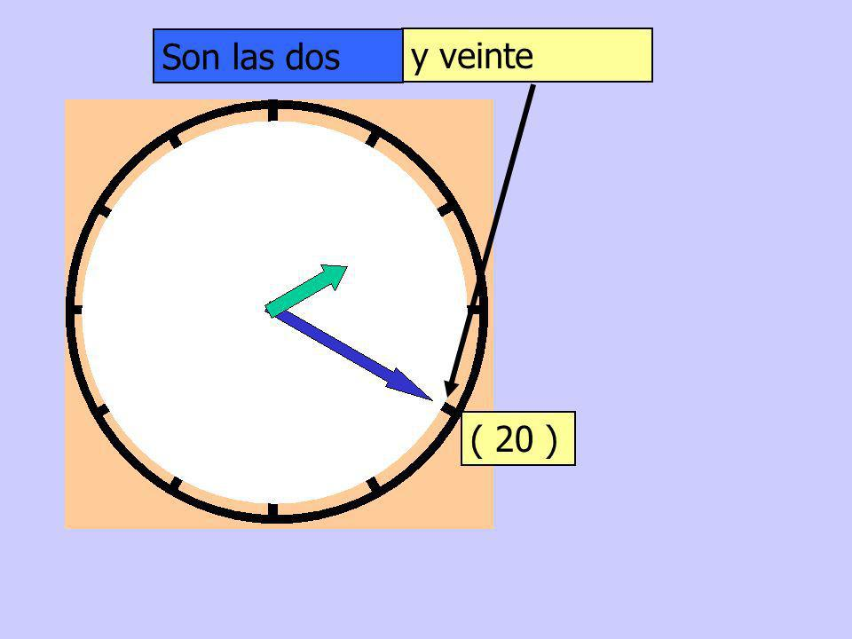 Son las dos y veinte ( 20 )