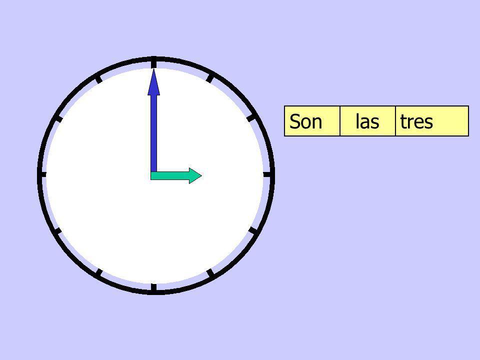 Son las tres