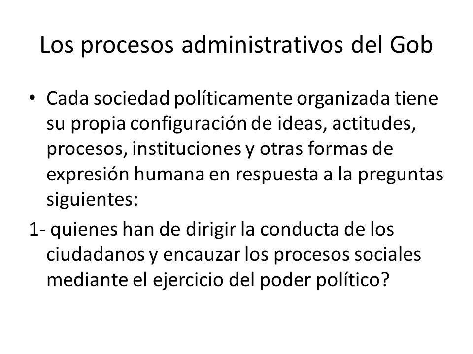 Los procesos administrativos del Gob