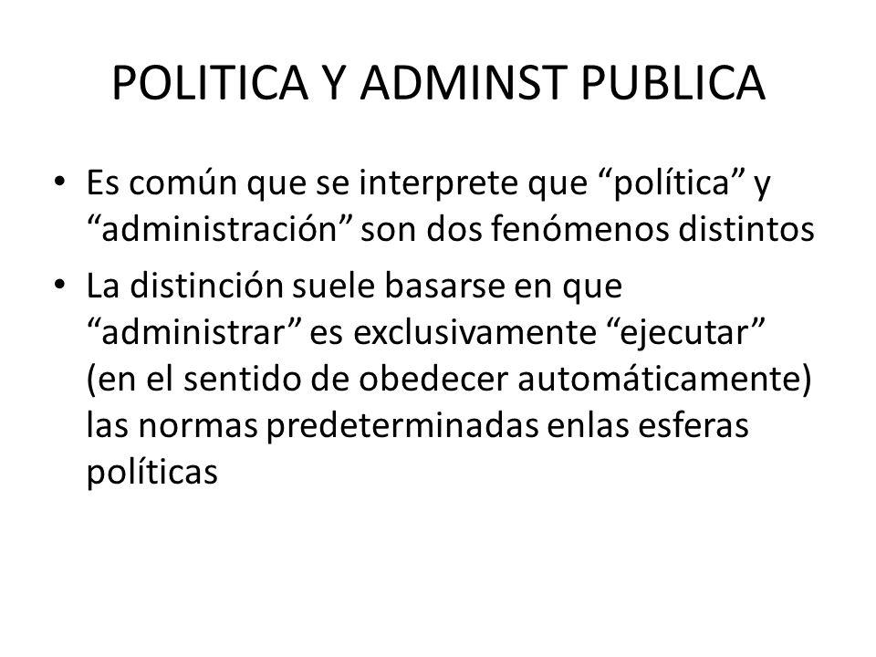 POLITICA Y ADMINST PUBLICA