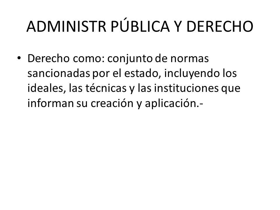 ADMINISTR PÚBLICA Y DERECHO