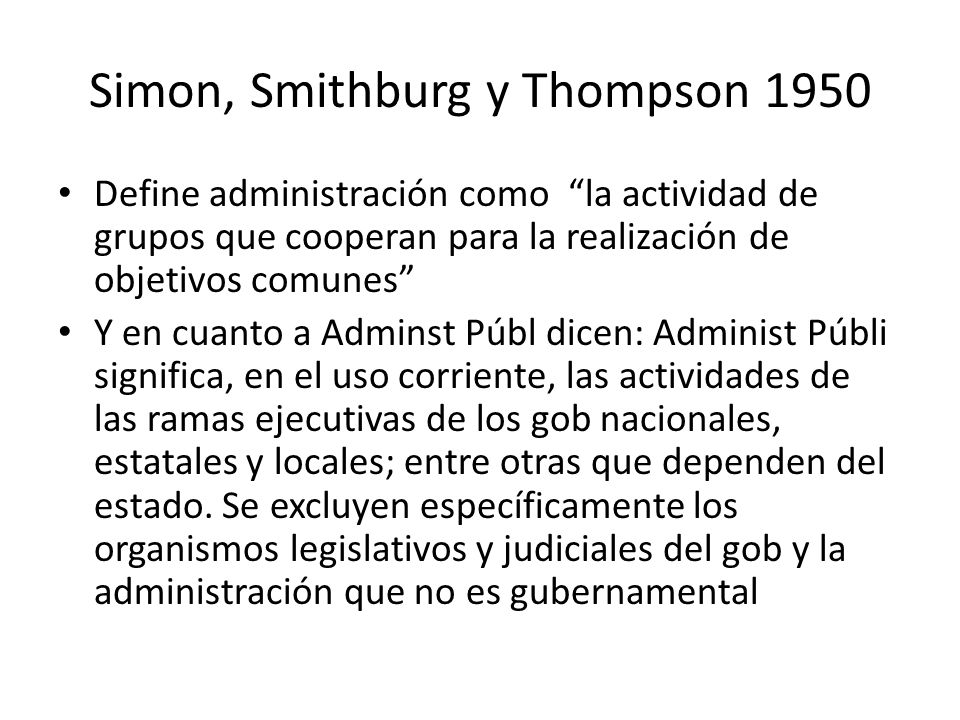 Simon, Smithburg y Thompson 1950