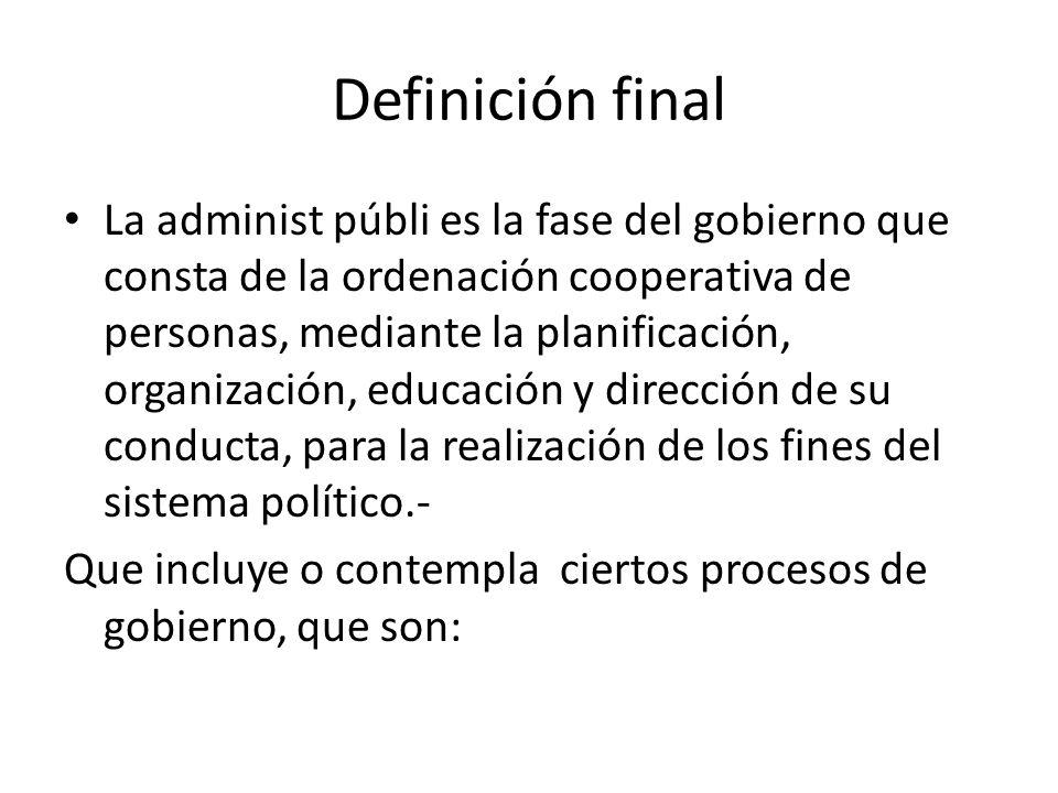 Definición final