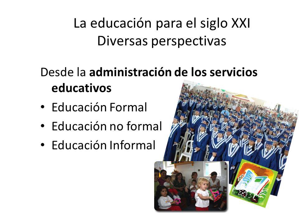 La educación para el siglo XXI Diversas perspectivas