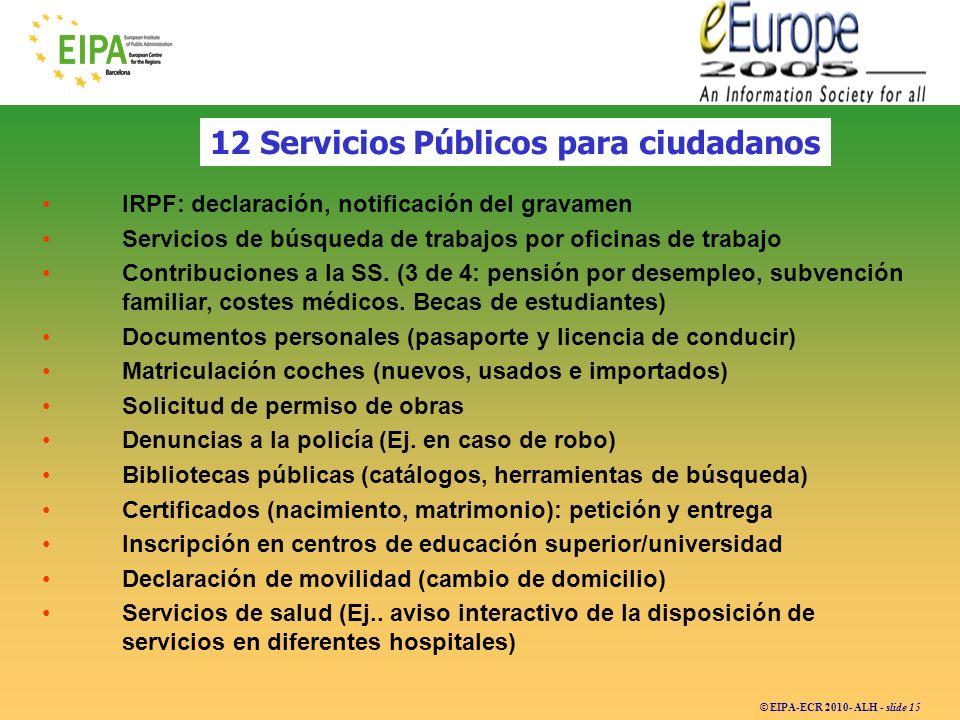 12 Servicios Públicos para ciudadanos