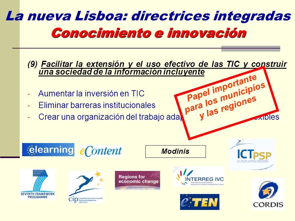 La nueva Lisboa: directrices integradas Conocimiento e innovación
