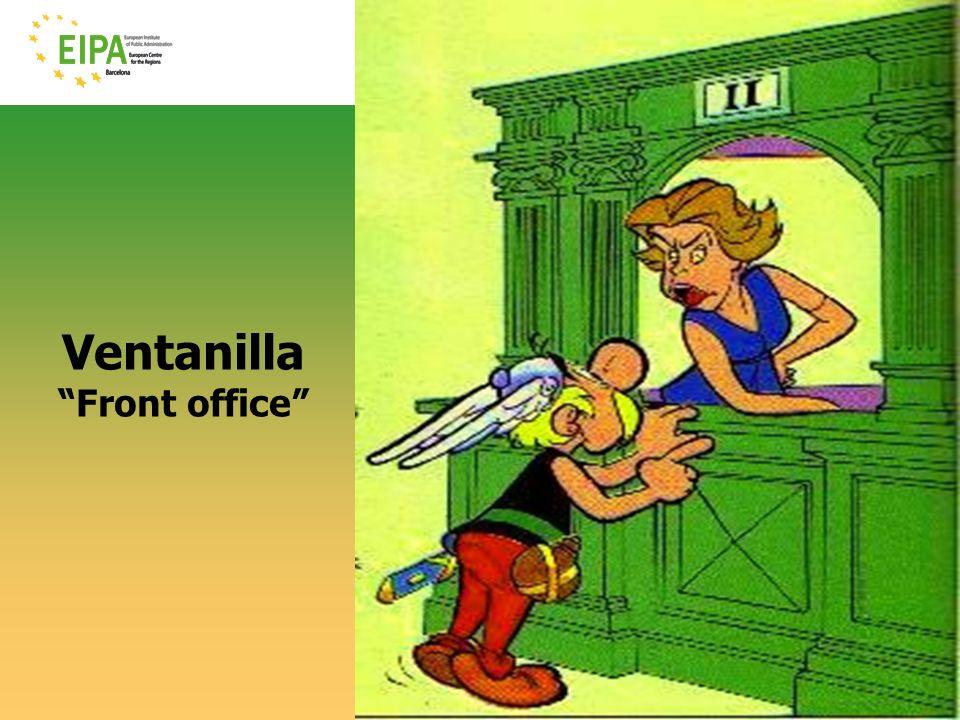 Ventanilla Front office © EIPA-ECR 2010- ALH - slide 3
