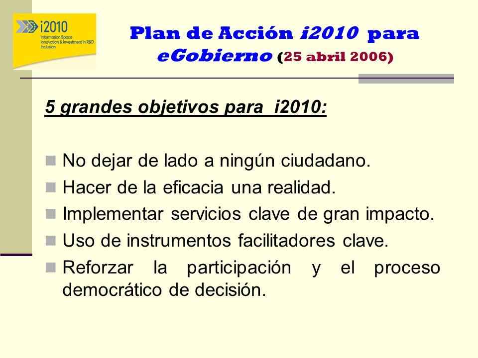 Plan de Acción i2010 para eGobierno (25 abril 2006)
