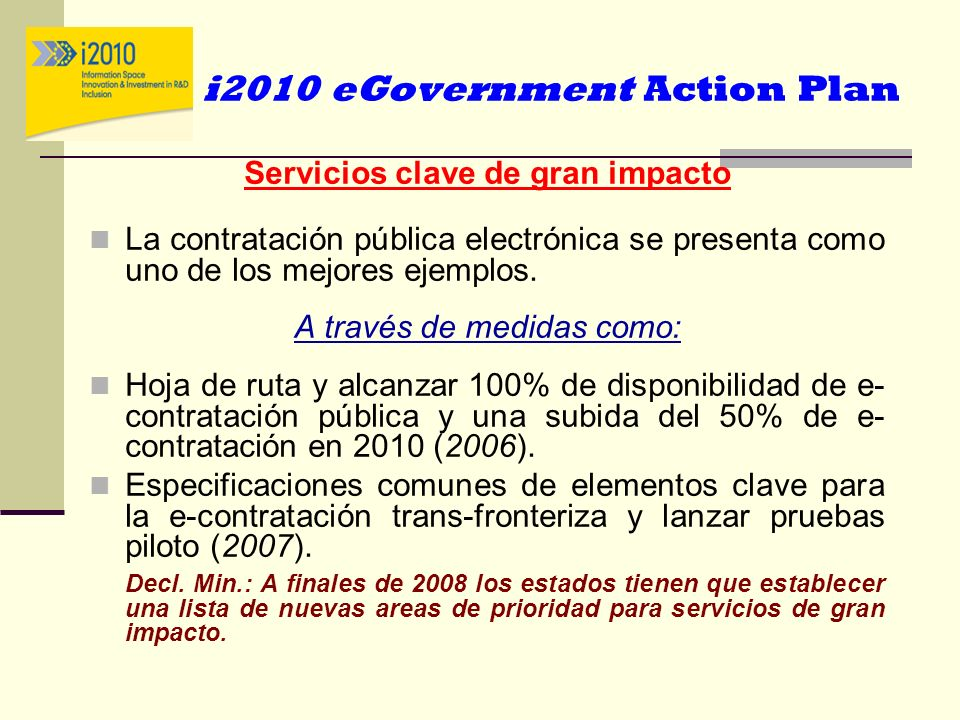 i2010 eGovernment Action Plan