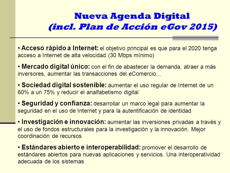 Nueva Agenda Digital (incl. Plan de Acción eGov 2015)