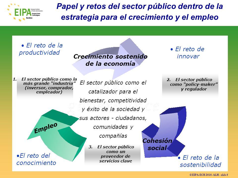 Papel y retos del sector público dentro de la estrategia para el crecimiento y el empleo