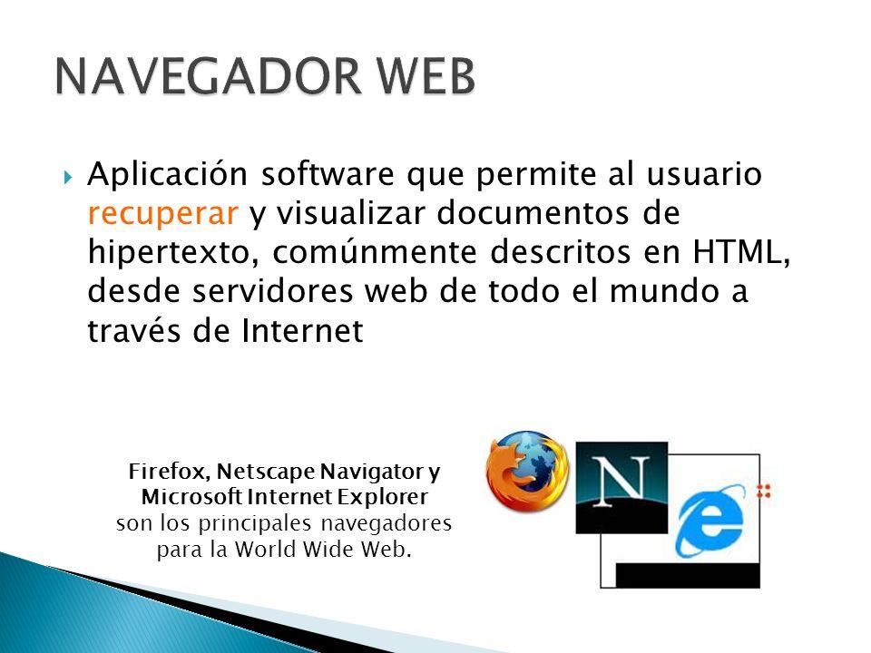 Firefox, Netscape Navigator y Microsoft Internet Explorer