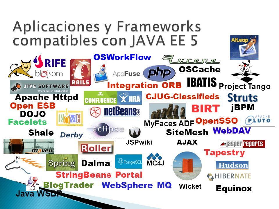 Aplicaciones y Frameworks compatibles con JAVA EE 5