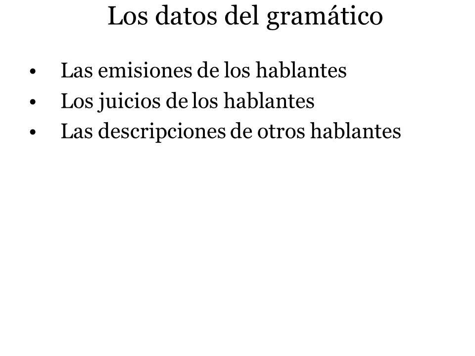 Los datos del gramático
