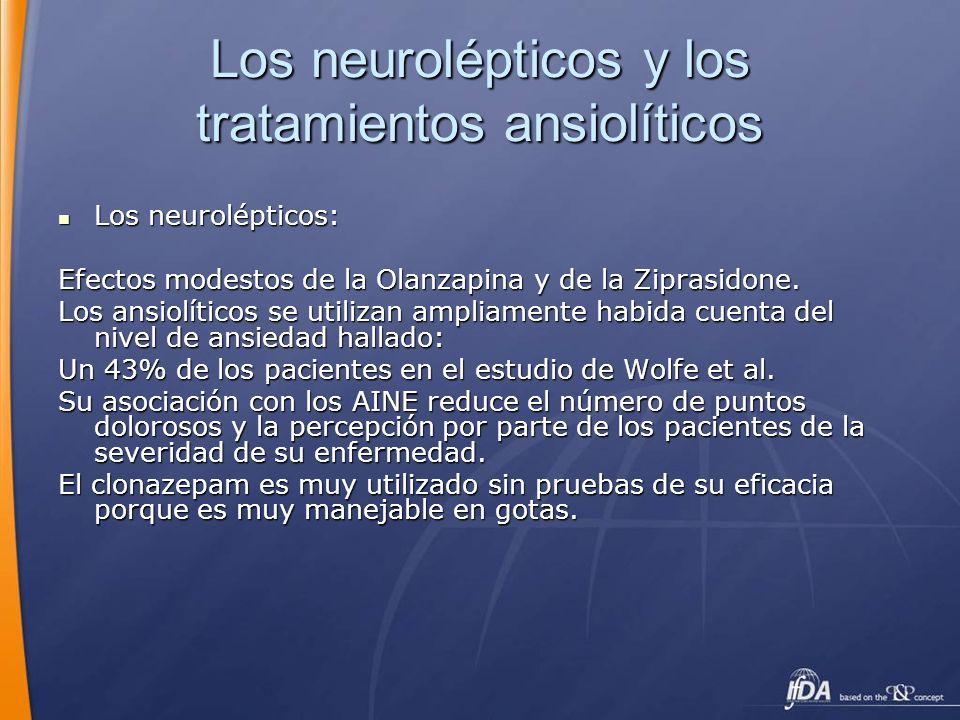 Los neurolépticos y los tratamientos ansiolíticos