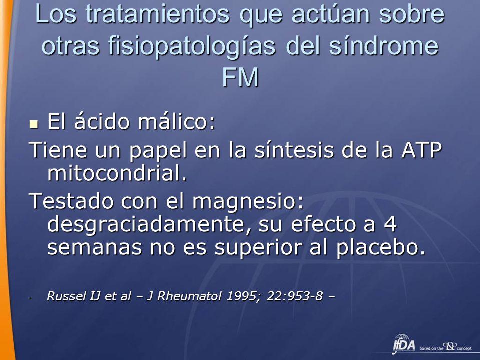 Los tratamientos que actúan sobre otras fisiopatologías del síndrome FM