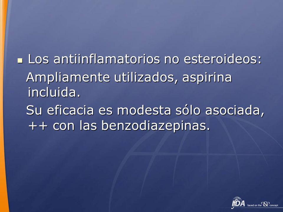 Los antiinflamatorios no esteroideos: