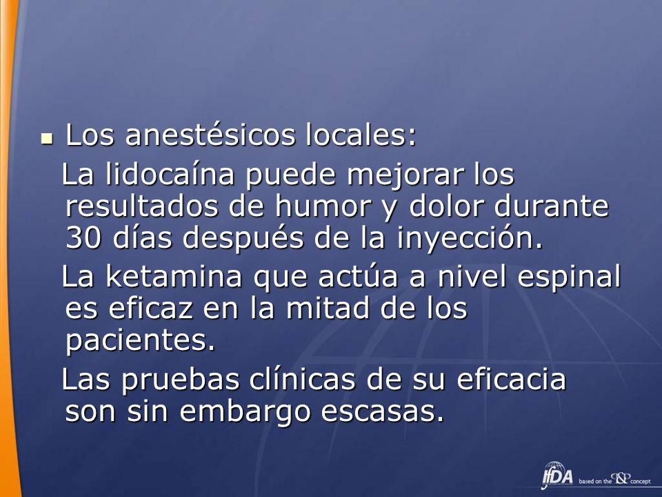 Los anestésicos locales: