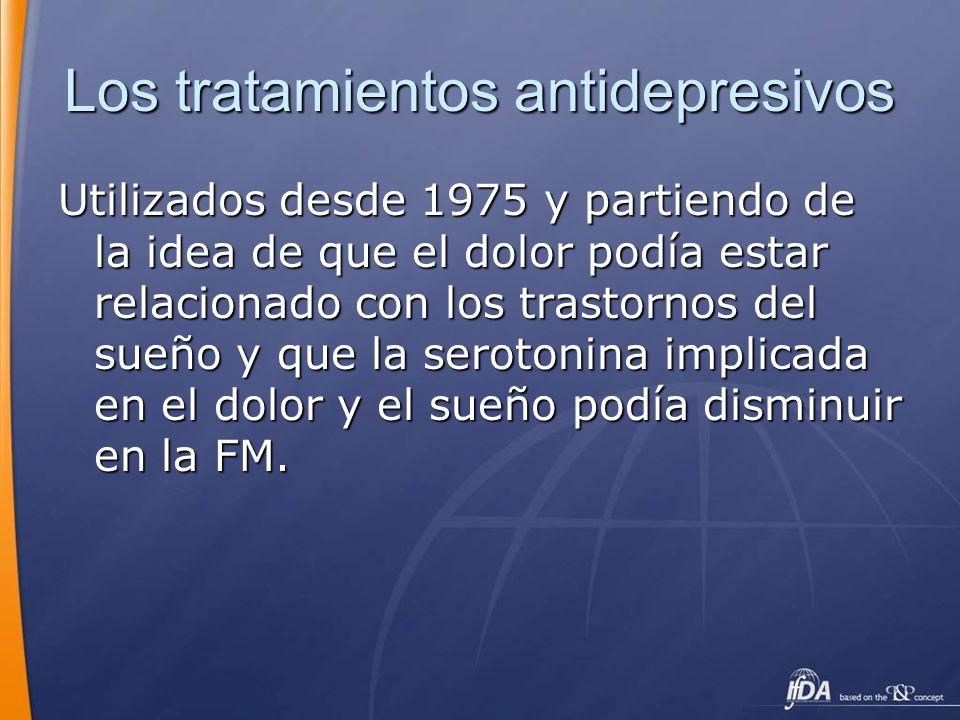 Los tratamientos antidepresivos
