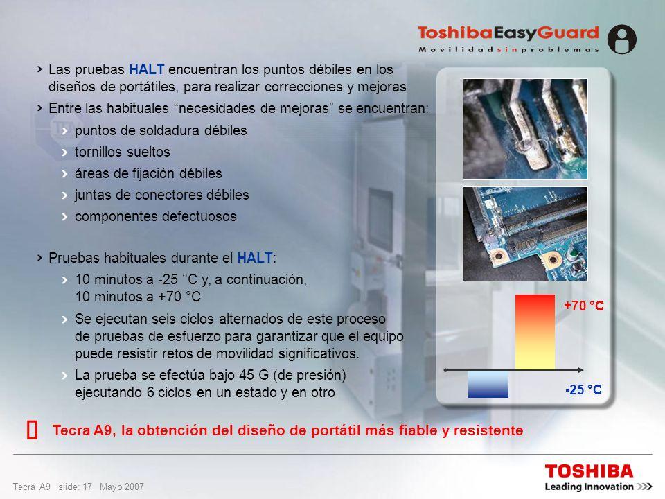 Las pruebas HALT encuentran los puntos débiles en los diseños de portátiles, para realizar correcciones y mejoras