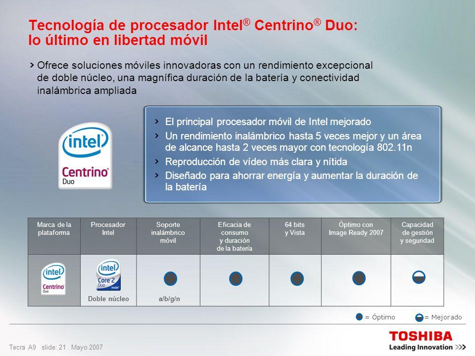 Tecnología de procesador Intel® Centrino® Duo: lo último en libertad móvil