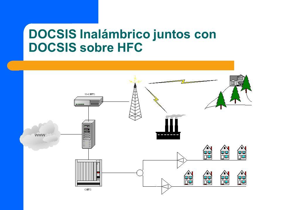 DOCSIS Inalámbrico juntos con DOCSIS sobre HFC
