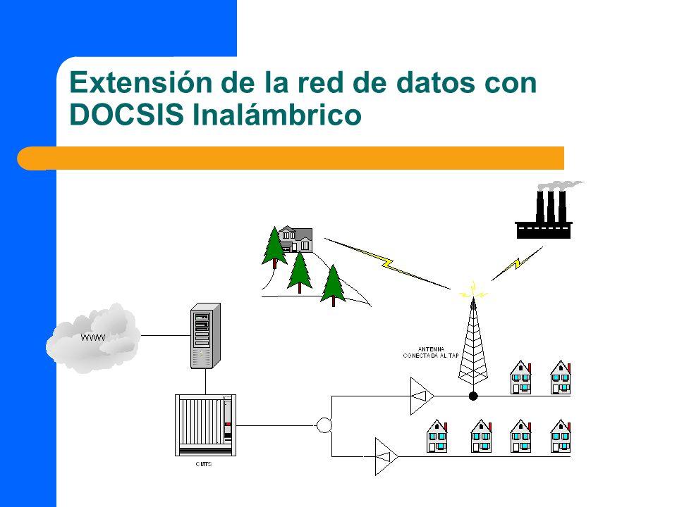 Extensión de la red de datos con DOCSIS Inalámbrico