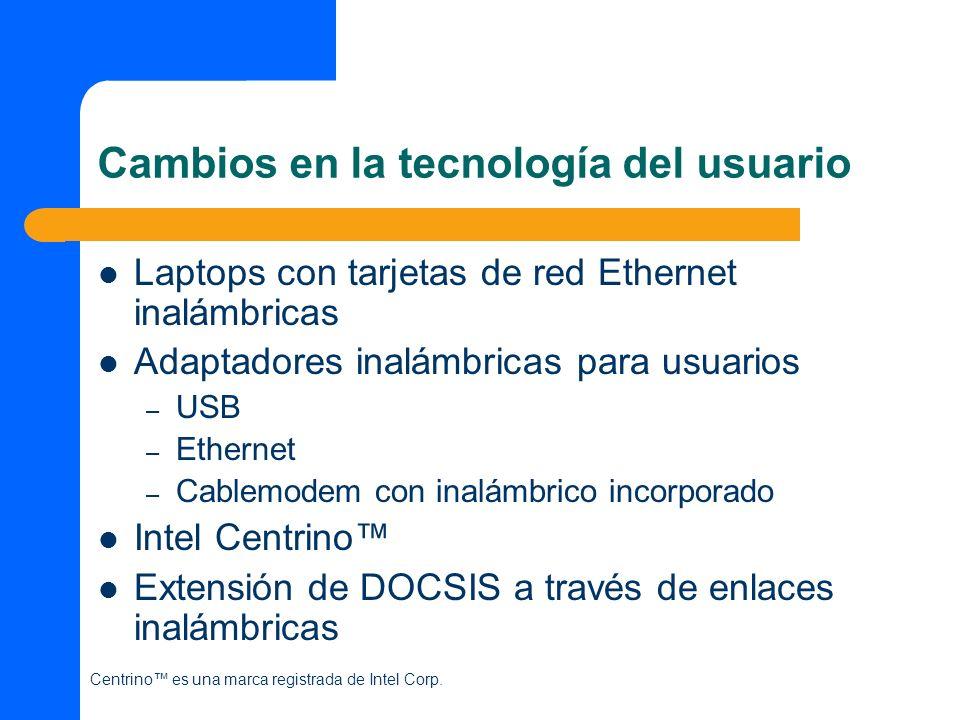 Cambios en la tecnología del usuario