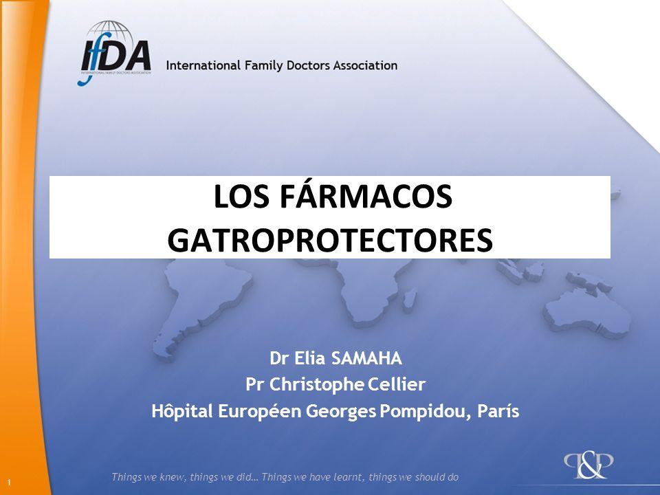 LOS FÁRMACOS GATROPROTECTORES
