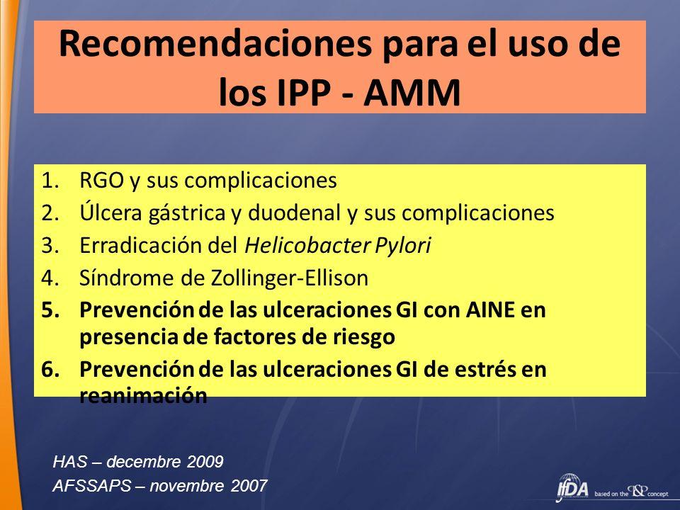 Recomendaciones para el uso de los IPP - AMM