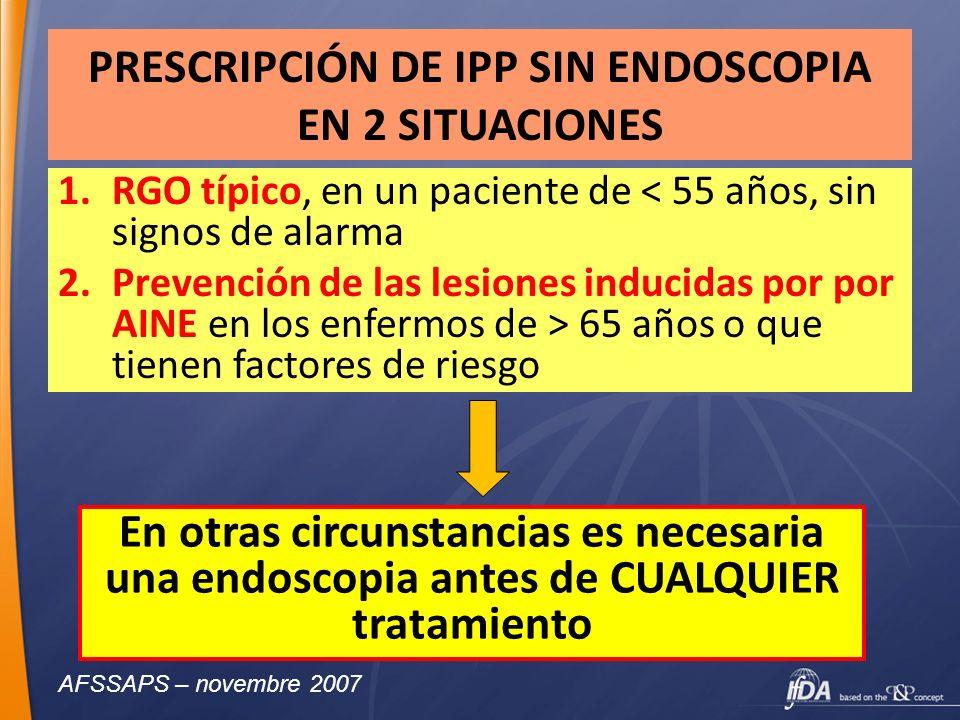 PRESCRIPCIÓN DE IPP SIN ENDOSCOPIA EN 2 SITUACIONES