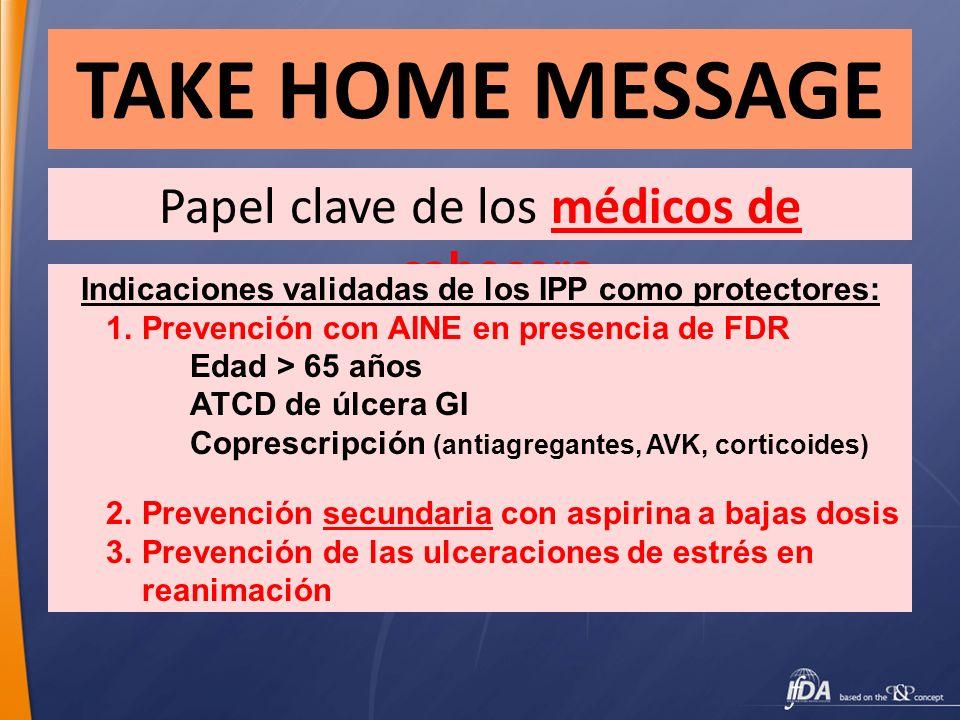 Indicaciones validadas de los IPP como protectores: