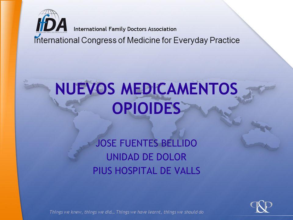 NUEVOS MEDICAMENTOS OPIOIDES