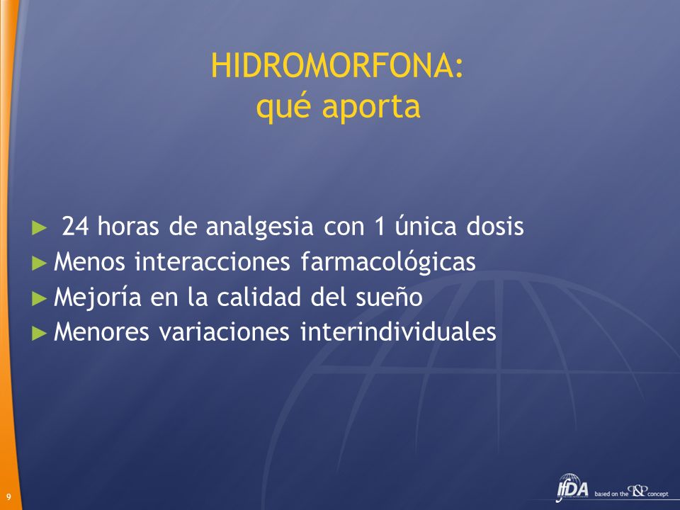 HIDROMORFONA: qué aporta