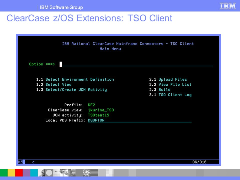 ClearCase z/OS Extensions: TSO Client