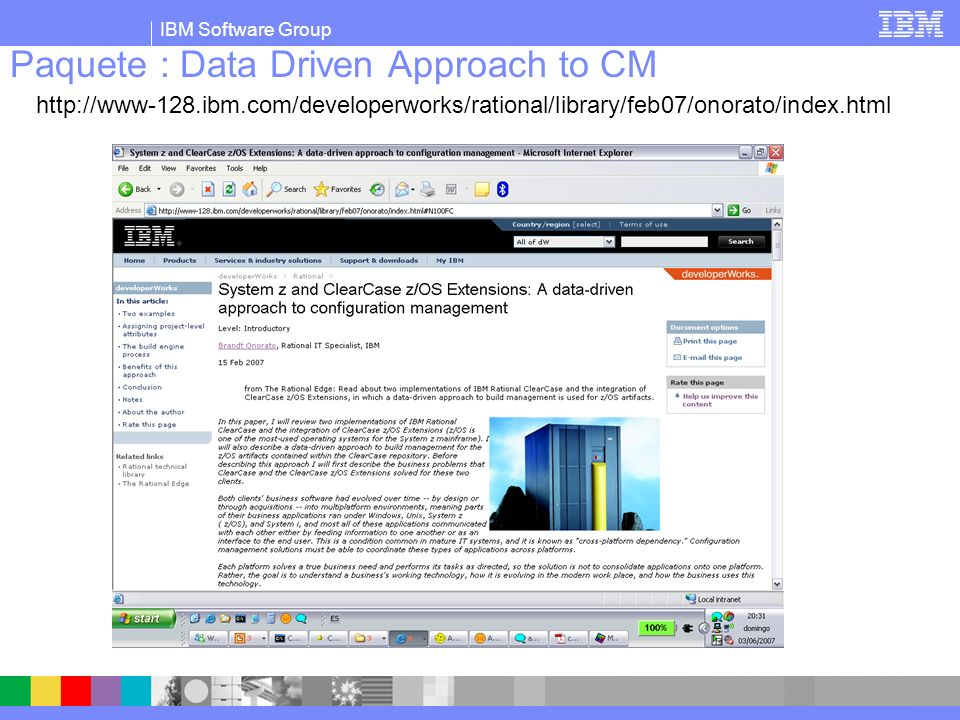 Paquete : Data Driven Approach to CM
