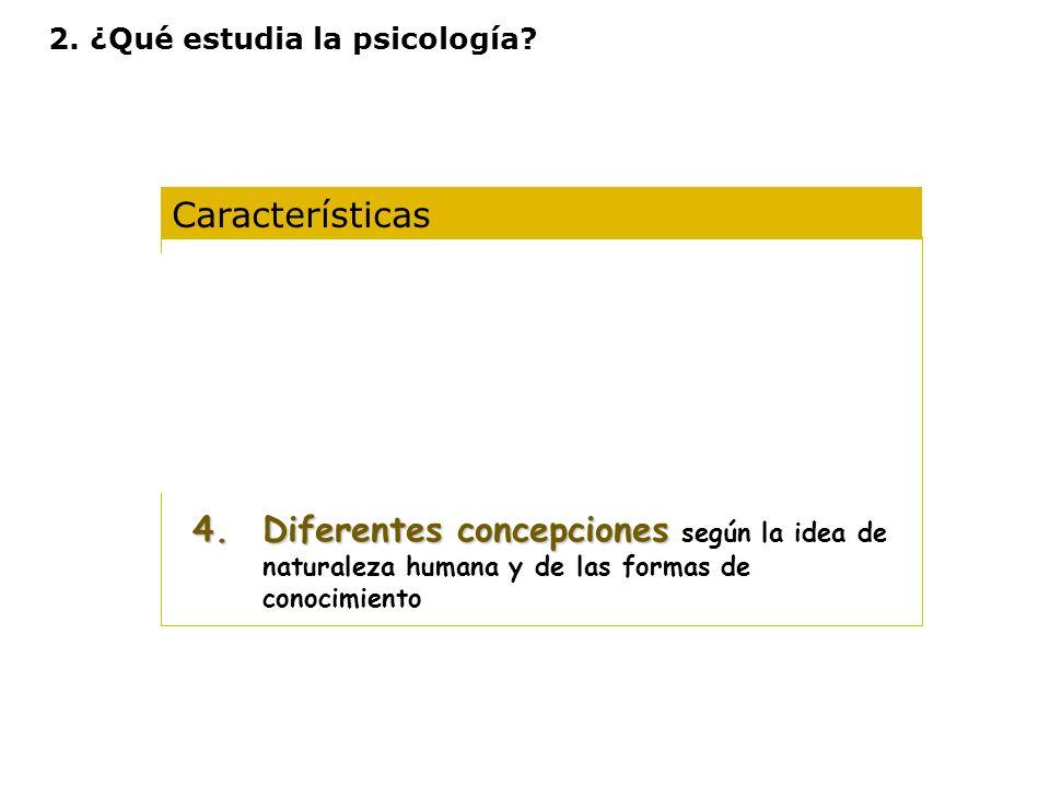 2. ¿Qué estudia la psicología