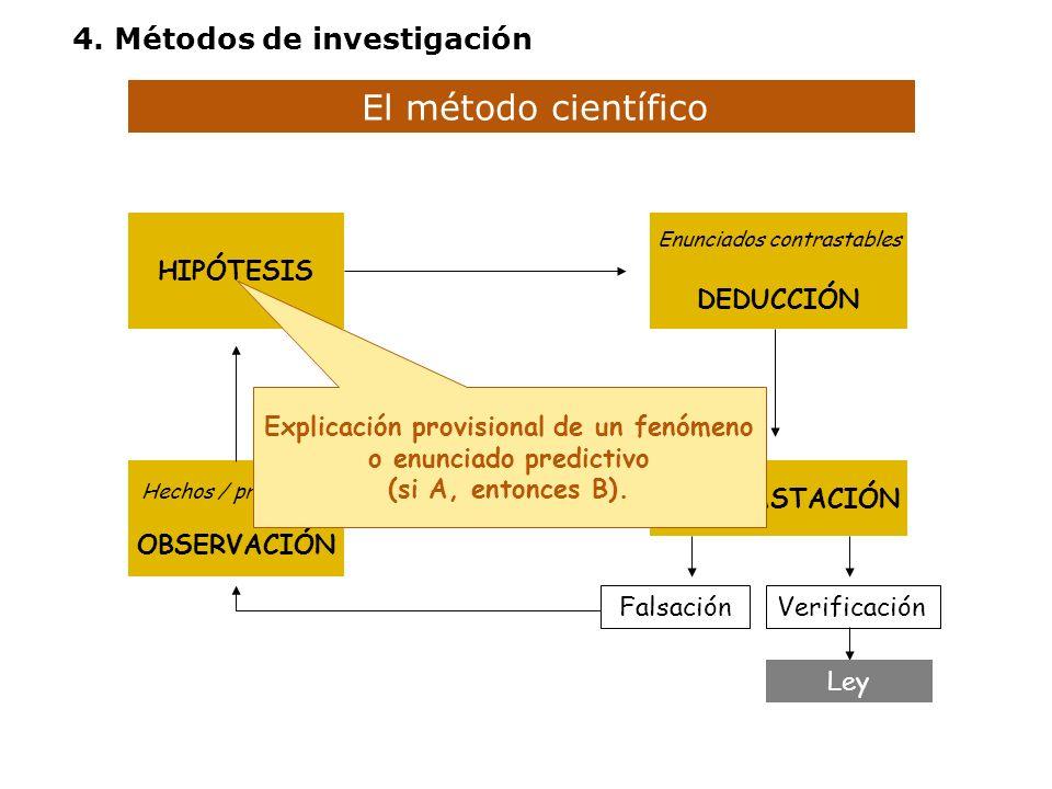 Explicación provisional de un fenómeno o enunciado predictivo