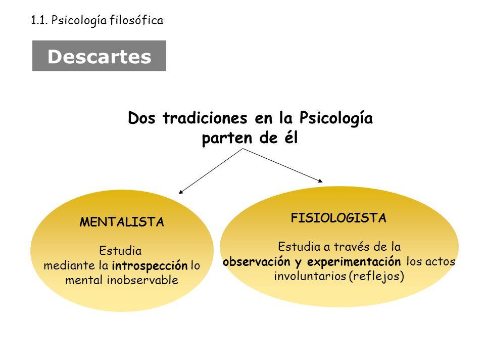 Dos tradiciones en la Psicología parten de él