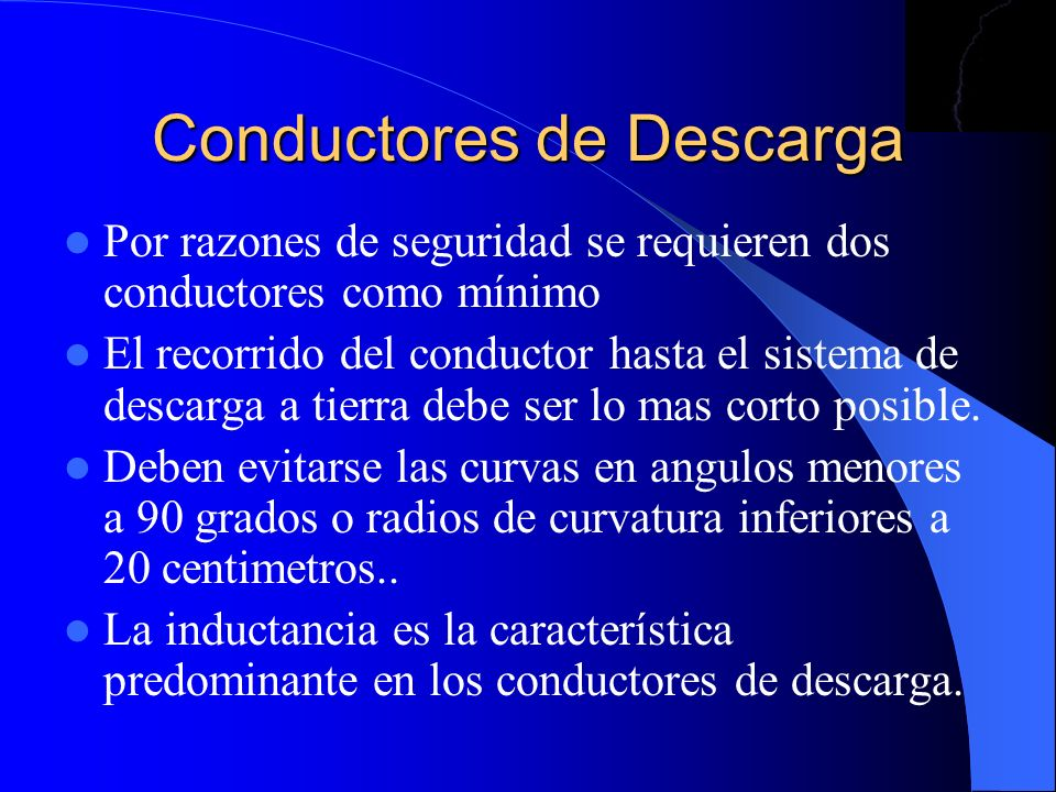 Conductores de Descarga