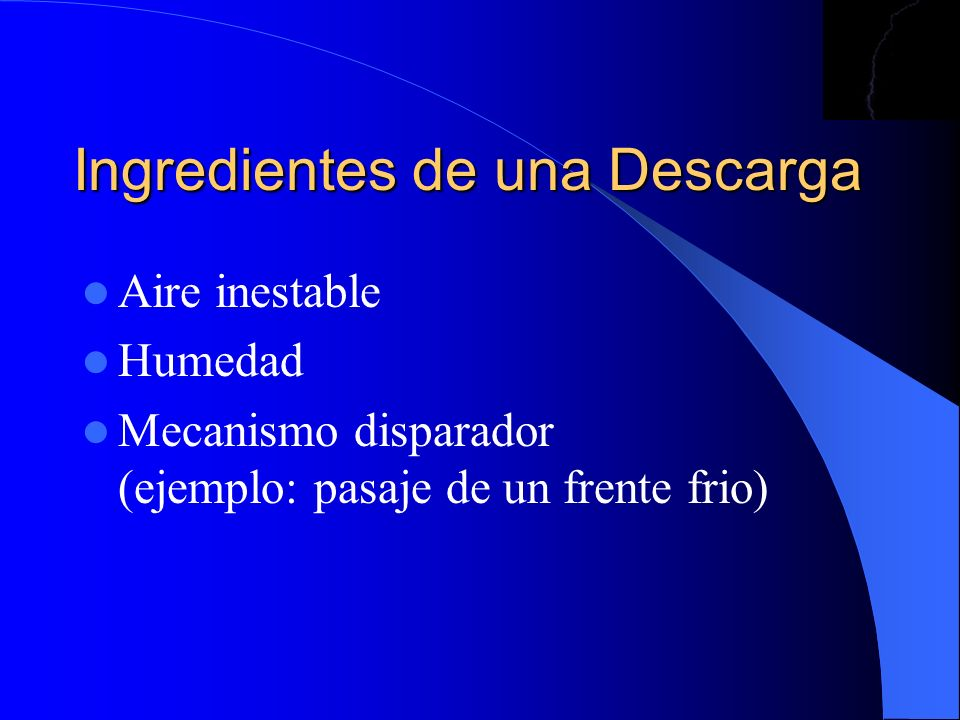 Ingredientes de una Descarga