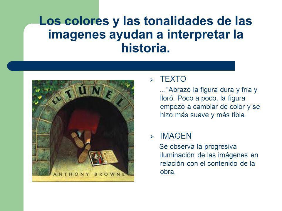 Los colores y las tonalidades de las imagenes ayudan a interpretar la historia.