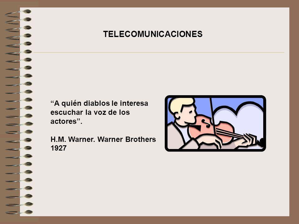 TELECOMUNICACIONES A quién diablos le interesa escuchar la voz de los actores .